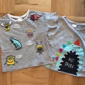British Next T-shirts Dinosaur Monsters Fun